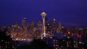 Real estate markets to watch - Seattle (image of the Seattle in the night).