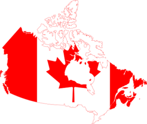 the map of Canada