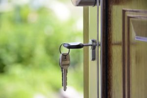 moving into a house or an apartment - key in the door