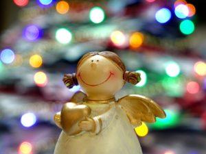 A figurine of an angel.