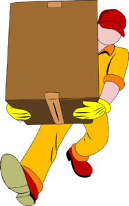Relocating professional holding box - Handling short notice relocation is easier when you hire professionals to help you.
