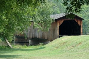 A covered bridge in Maryland is one of famous landmarks.