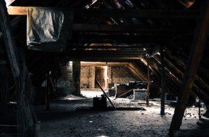 Empty, run down attic space.