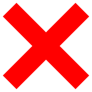 "A red ""X"" sign symbolizing the fact that movers mostly do not move plants."