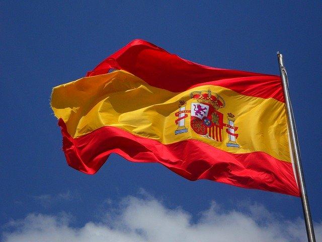A Spanish flag.