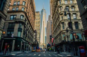 Buildings in New York.