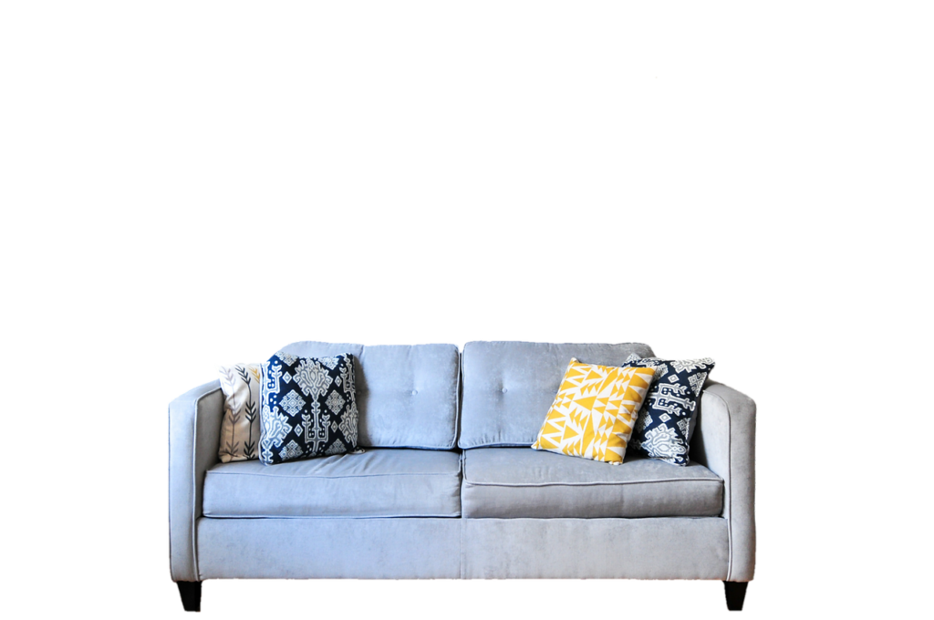 A couch you should disassemble to have your guest room ready.