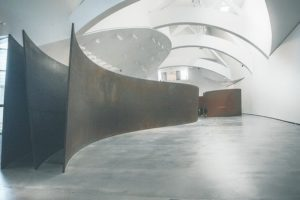 The interior of an empty gallery space.