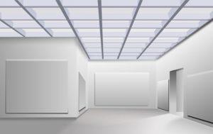 Blank art gallery walls