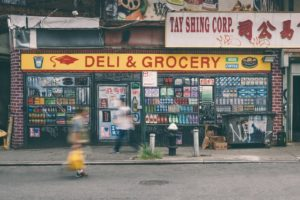 A corner shop in NYC