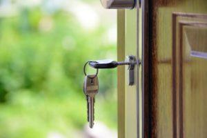 a key in a lock closeup