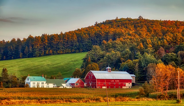 A farm in New Hampshire
