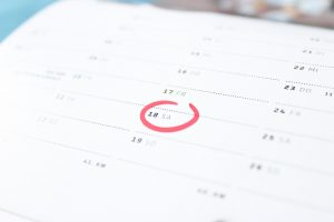 A calendar to set the moving date and organize a DIY interstate move even better.