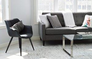 Modern furniture in living room.