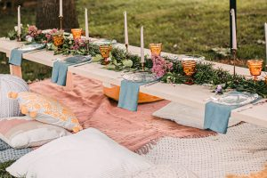 a backyard lunch party