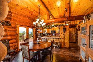 Rustic home, interior.