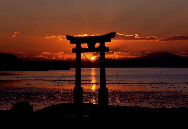 Sunset shrine