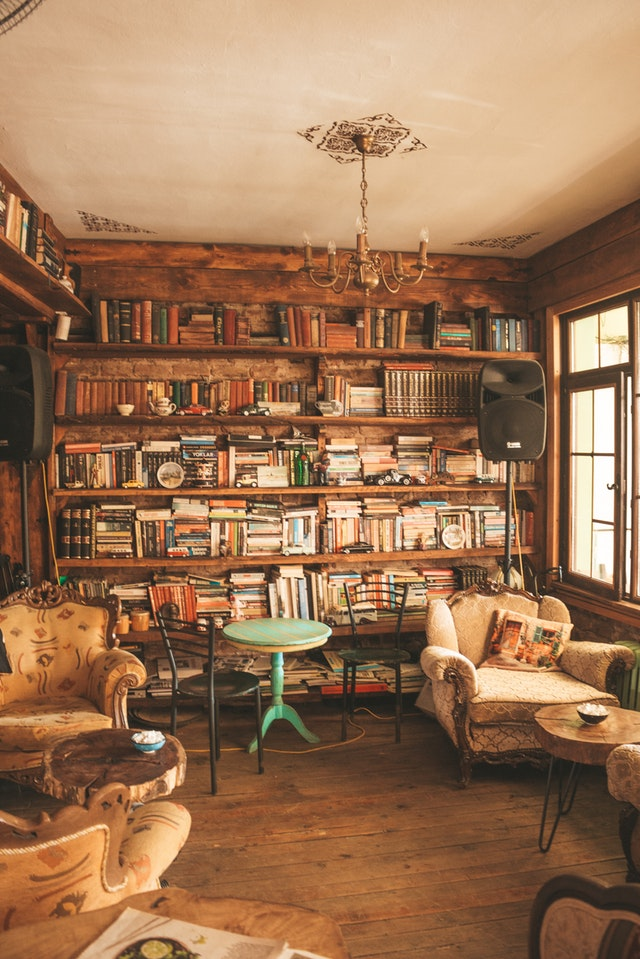An example of how you can transform your attic into a library.