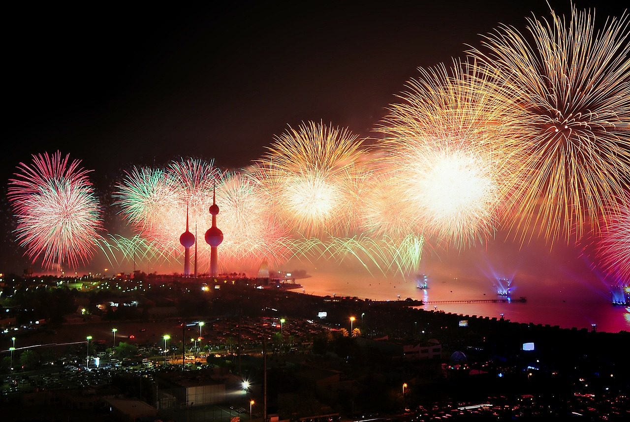 A beautiful fireworks you can enjoy if you are thinking about buying a property in Kuwait.