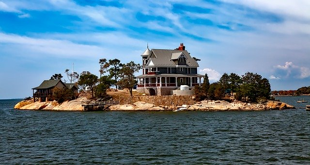 A view of the Thimble Islands.