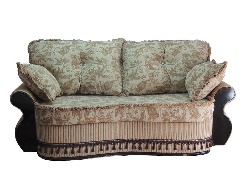 A piece of upholstered furniture.