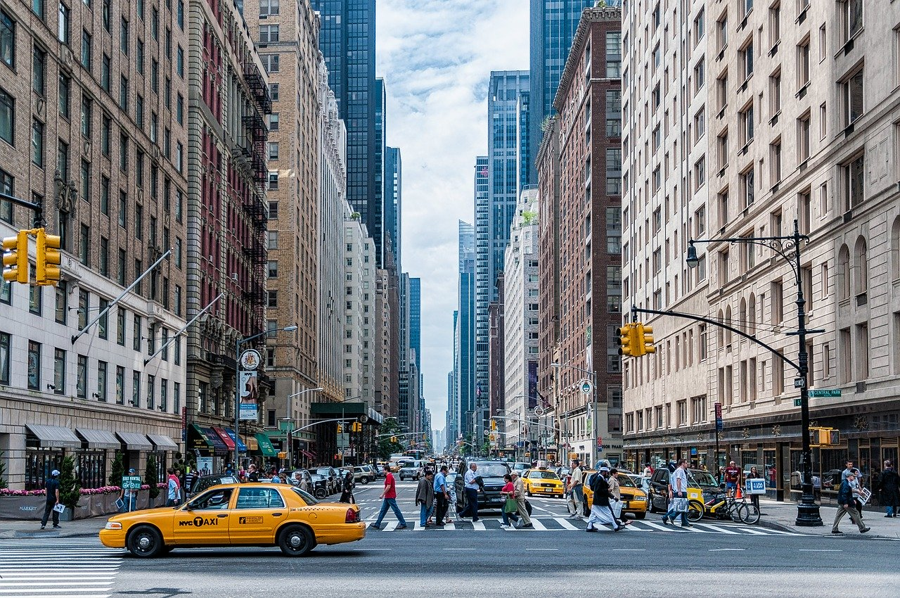 A street in NYC, one of those where buying your first property in New York City is a good idea.
