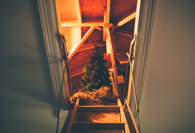 Finish your attic by climbing into it.