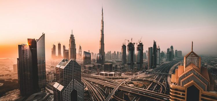 Skyline of Dubai, with great places to look into when expanding your Kuwait-based company to Dubai