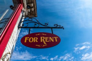 An image of sign that says for rent